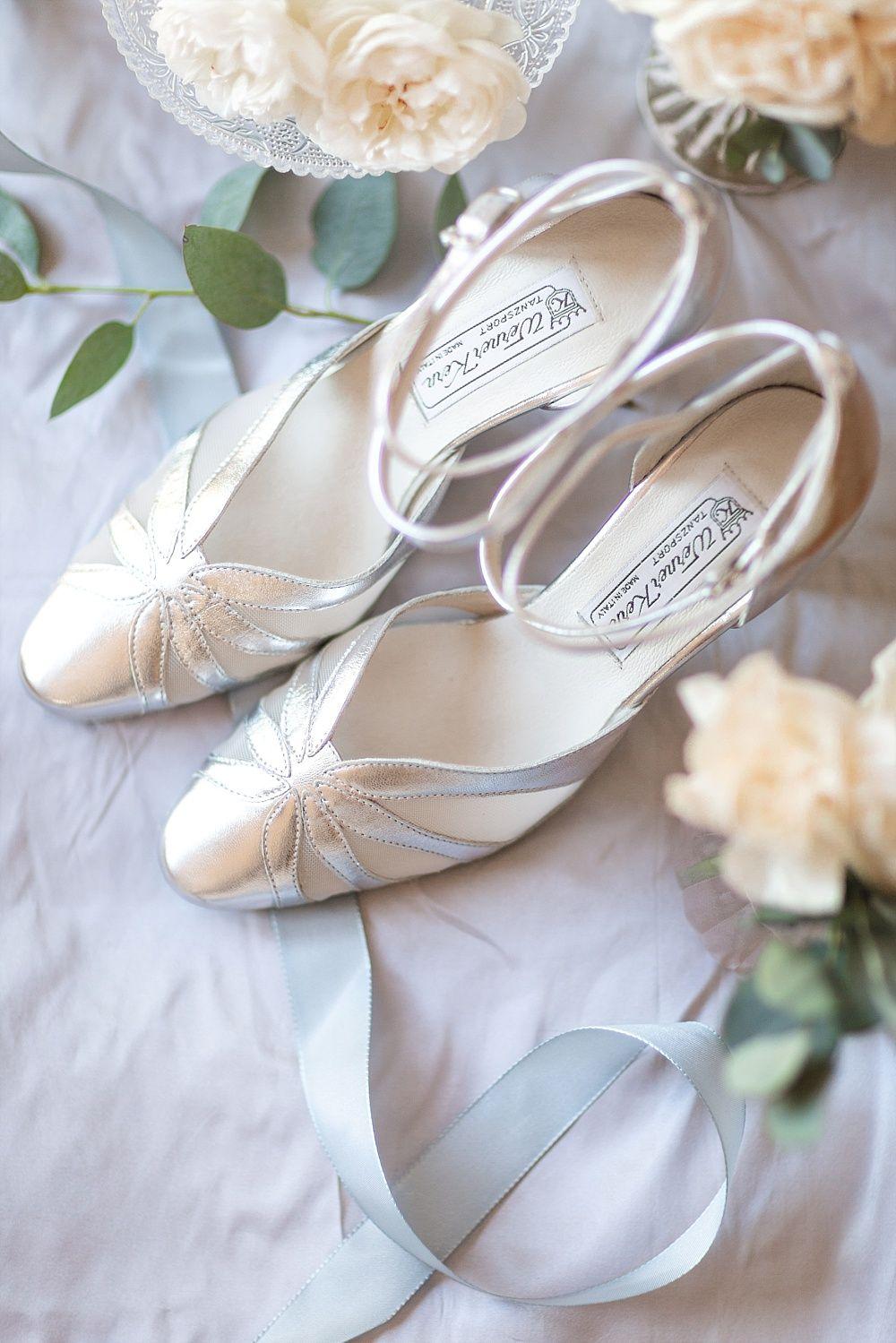 Werner Kern zilveren bruidsschoenen