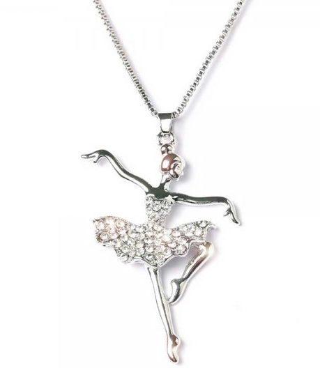 alista ballerina ketting met strass