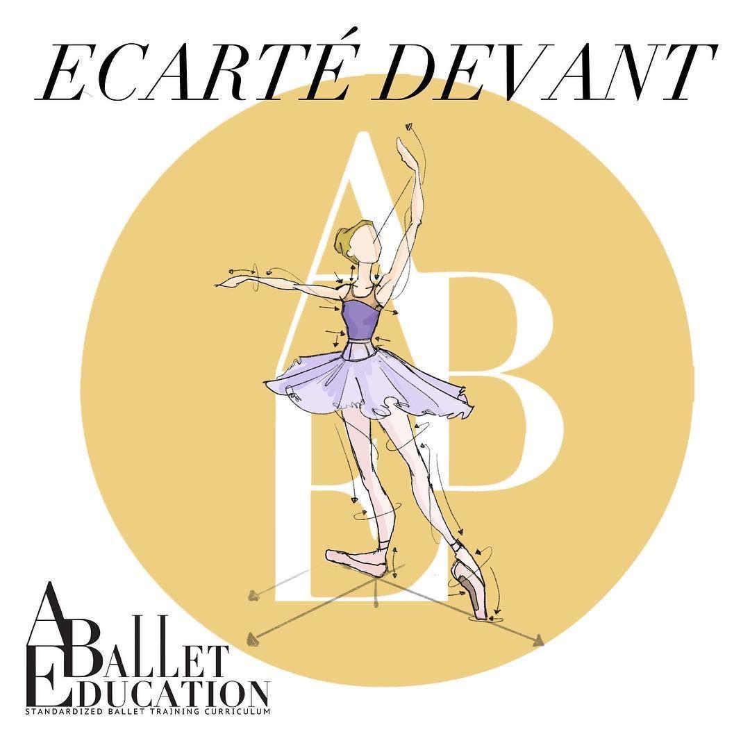 ecarte devant ballet richtingen