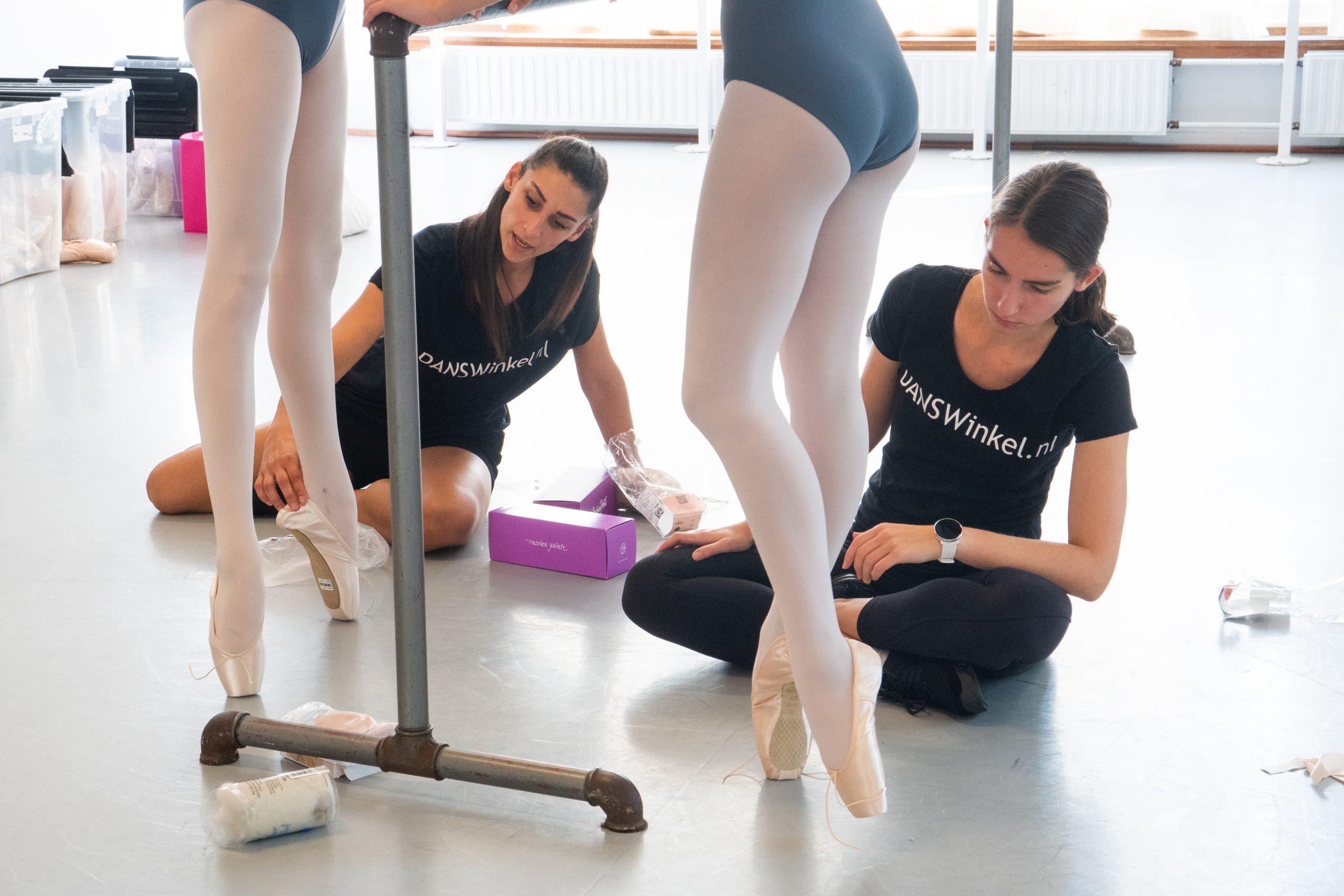 Nationale balletacademie spitzen aanmeten Danswinkel.nl