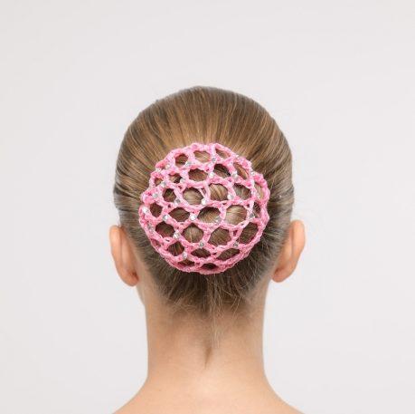 dansez vous roze gehaakt haarnetje met strass sinterklaas cadeaus
