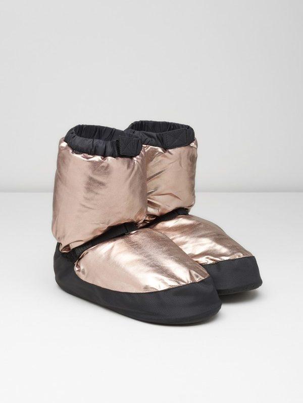 IM009MT bloch metallic warm-up booties goud