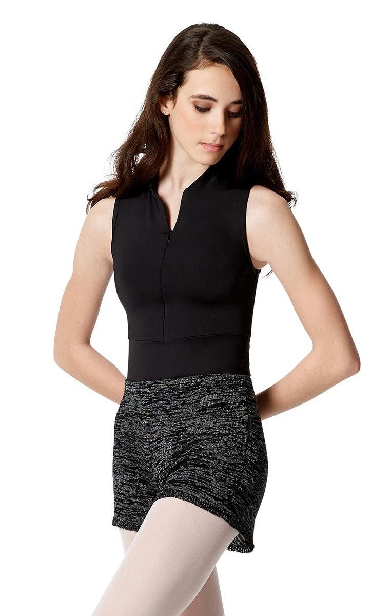 Knitted Melange Warm Up Shorts