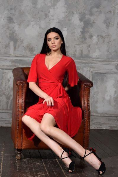 SM8006 Studio Moscow kerst gala jurk