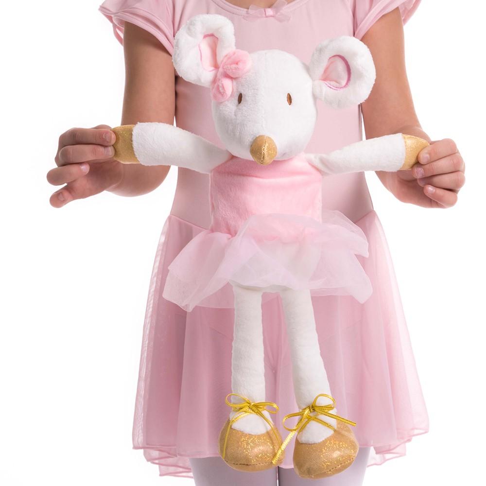 dansez-vous zelie ballerina knuffel muis groot