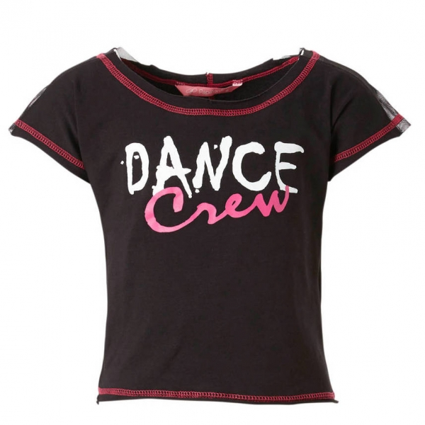 832PK2934 papillon dance crew dans t-shirt voor kinderen