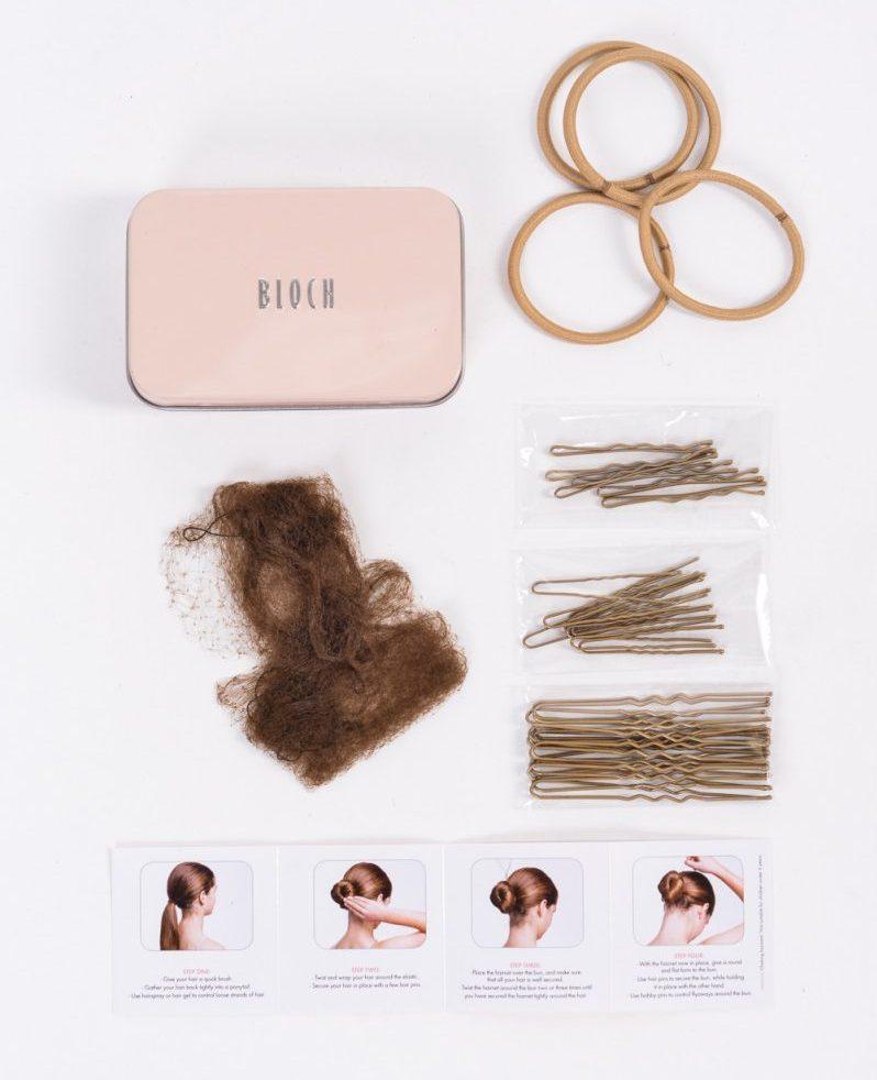 bloch bun kit voor de balletknot haaraccessoires