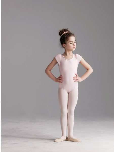 capezio CA_10620C roze balletpakje met pofmouwtjes