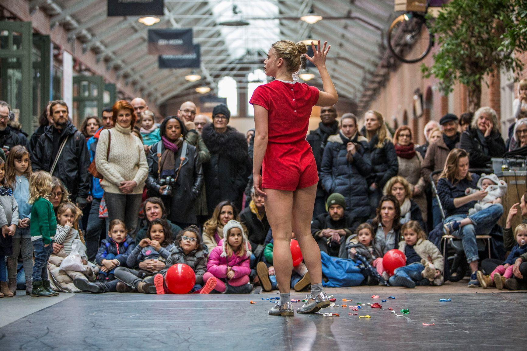 Culturele zondag in De Hallen, dansdag georganiseerd door Gary