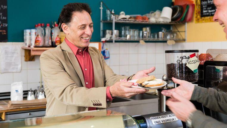 Gary feingold in Gary's deli foto Tammy van Nerum