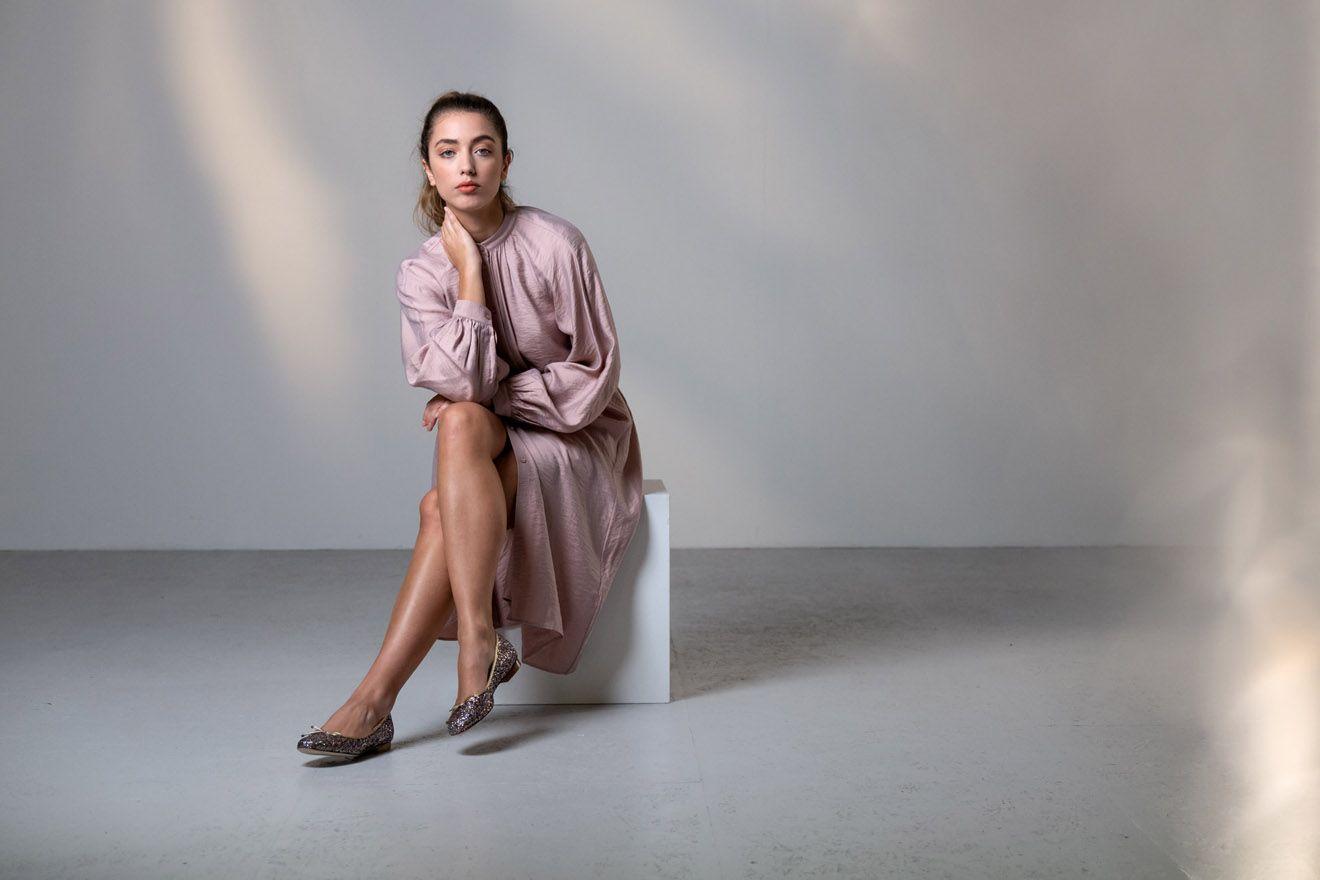 werner kern ballerina's roze glitter