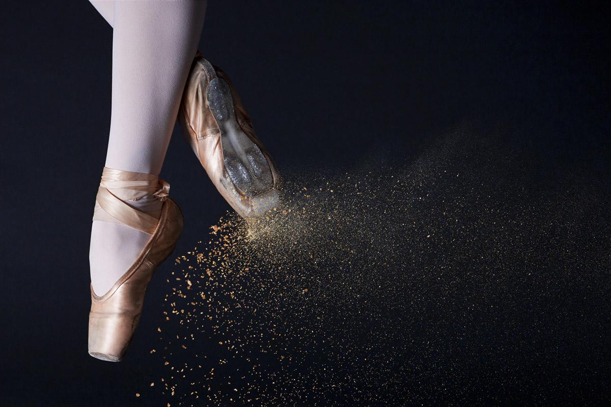 Spitzen hars in balletsprong