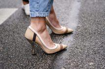 schoenen met flare hak zomertrend