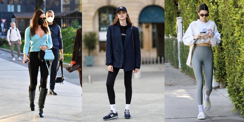 Leggings street style celebrities