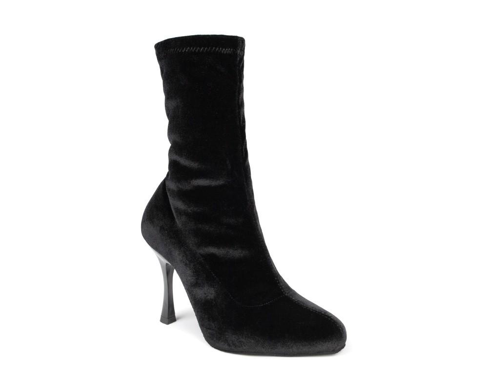 portdance pd boot 001 black velvet dansschoenen laarsjes