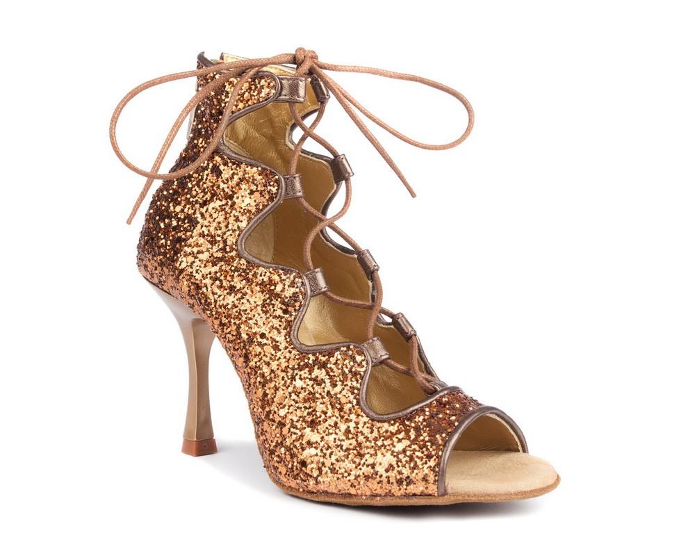 Portdance pd805 bronze glitter dansschoenen
